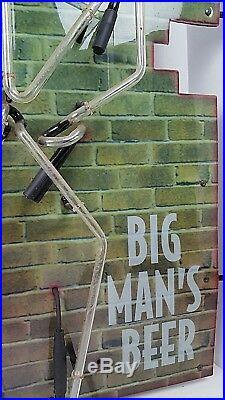 Vintage Coors Red Light Big Man S Beer Large Neon Bar Sign