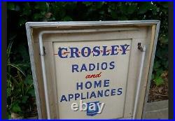 Vintage Crosley Radios & Home Appliances Lighted Neon Advertising Sign