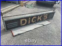 Vintage DICKS Bar Beer Restaurant Sign ROME NY 2 Sided NEON Art Deco 94x16x8