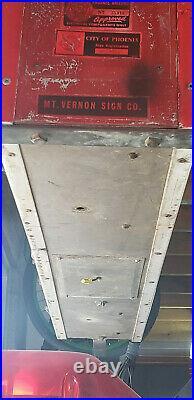 Vintage Double Sided Porcelein Neon Budwesier Sign 48 x 18 Arizona Bar