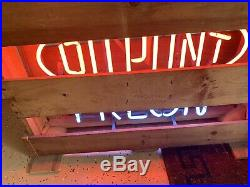 Vintage DuPont Freon neon sign in original shippint crate