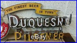 Vintage Duquesne Pilsner Neon Beer Sign