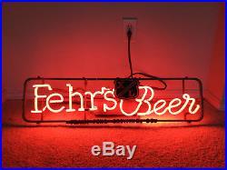 Vintage Fehr's Beer Neon Sign