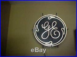 Vintage General ElectricGE18 neon lighted LogoSignAdvertising Works