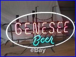 Vintage Genesee Beer Neon Beer Sign! Rare! 25X17