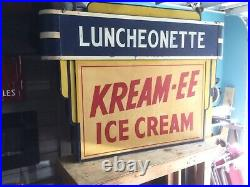 Vintage ICE CREAM Sign, Double Sided, Neon