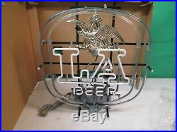 Vintage Large Anheuser-Busch LA Beer Lighted Bar Neon Sign NEW IN ORIGINAL BOX