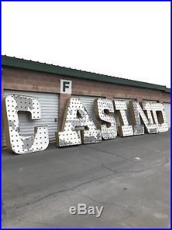 Vintage Las Vegas Neon Sign/Marquee Letters. Movie Memoribilia