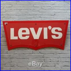 Vintage Levis Jeans Neon Advertising Store Sign 80s 90s