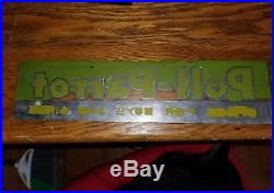 Vintage Lighted Sign Neon Art Deco Poll- Parrot Leader Department Store