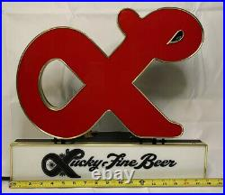 Vintage Lucky Fine Beer Breweries Neon Bar Beer Neon Sign Mancave Numbered Rare