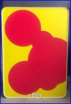 Vintage Mid Century Modern Neon Op Pop Art Sculpture Sign Display Light Box