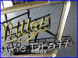 Vintage Miller Genuine Draft Neon Sign