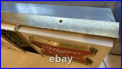 Vintage Miller High Life Beer Neon Ad Sign With Light Box Rainbow Rare Find
