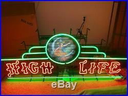 Vintage Miller High Life Neon Bar Sign