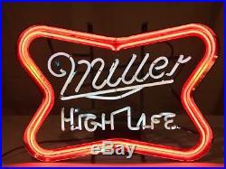 Vintage Miller High Life Neon Beer Sign