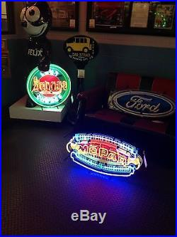 Vintage Mopar Shield Neon Advertising Sign 17 X 32 NO SHIPPING