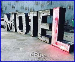 Vintage Motel Neon Letter Sign