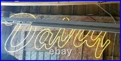 Vintage NEON Dairy Sign Over 7 feetlong