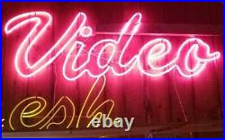 Vintage NEON VIDEO Sign Over 7 feet