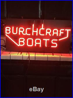 Vintage Neon Boat Sign