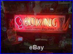 Vintage Neon Boxing Sign Chicago