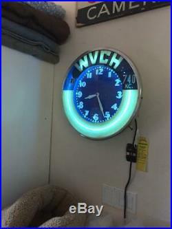 Vintage Neon Clock 20 Face 1948