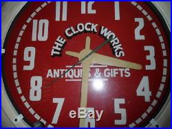 Vintage Neon Clock 26 Advertising Sign Beautiful! Great Holiday Gift