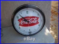 Vintage Neon Coca Cola Clock
