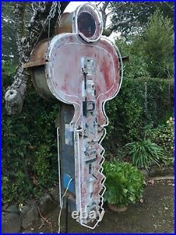 Vintage Neon Key Sign