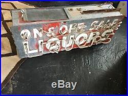 Vintage Neon Liquor Sign