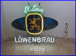 Vintage Neon Lowenbrau Beer Sign, Great Condition. Fully Functional, Original