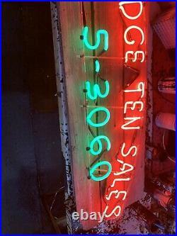 Vintage Neon Sign Auto Sales (2) 10 Mile Coolidge Masco Battery Automotive Rare
