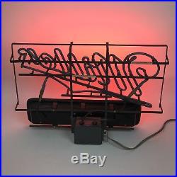 Vintage Neon Sign Miller Lightbox Americana