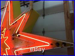 Vintage Neon Sign, STAR, Sky-Lit Motel, 1950-1960s, Original, Atomic Age