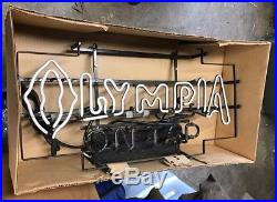 Vintage New Old Stock Oly / Olympia Beer Neon Lighted Sign Brand New In Box
