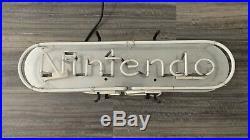 Vintage Nintendo Blue Neon Storefront Sign