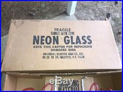 Vintage Nos 1983 Strohs Neon Beer Sign Still Secured To Original Box