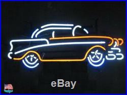 Vintage Old Car Garage Beer Bar Neon Sign 20x16 From USA