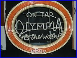 Vintage Original 1950's / 60's Olympia On Tap, It's The Water Neon Sign Rare