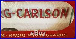 Vintage Original Art Deco STROMBERG CARLSON Phonograph NEON Advertising Sign