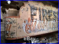 Vintage Original FIRESIDE TAP NEON Sign Fremont, WI Antique Bar Tavern Beer