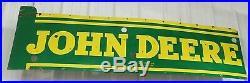 Vintage Original Jd John Deere Porcelain Neon Advertising Sign-lackner Sign Co