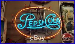 Vintage Original Working PEPSI COLA Neon Advertising Pepsi Early Sign
