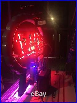 Vintage Pabst Pbr Beer Neon Lit Sign Beer. Bar/ Man Cave Slightly Used