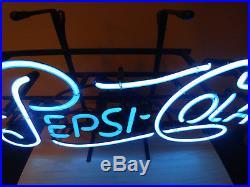 Vintage Pepsi Cola Neon Sign 22 x 10