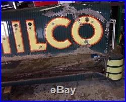 Vintage Philco Radio Neon Dealer Porcelain Sign Antique