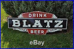 Vintage Porcelain Blatz Beer Neon Sign Skin