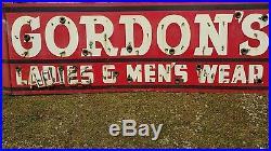 Vintage Porcelain Neon Clothing Sign