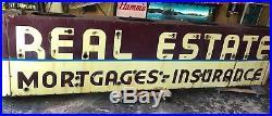 Vintage Porcelain Neon Realestate Sign